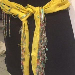 🛍2 for $35 Zara thin beaded scarf/ belt